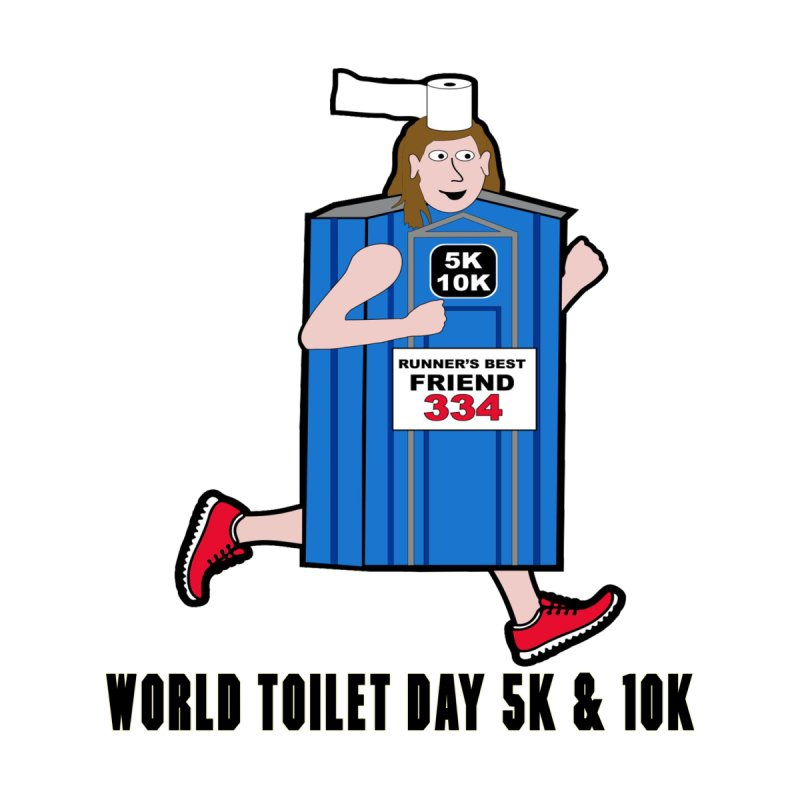 World Toilet Day 5K & 10K: Runner's Best Friend Home Throw Pillow by moonjoggers's Artist Shop