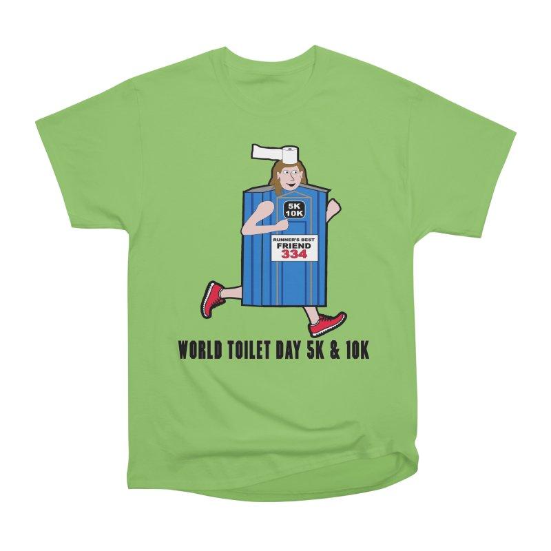World Toilet Day 5K & 10K: Runner's Best Friend Women's Heavyweight Unisex T-Shirt by moonjoggers's Artist Shop