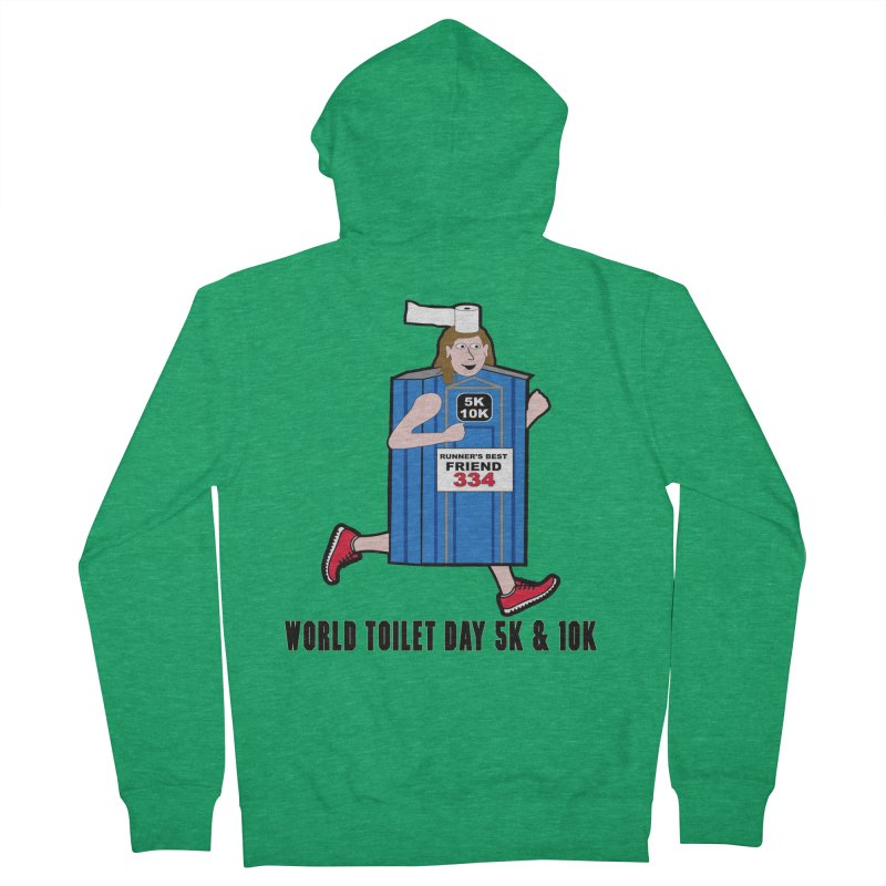 World Toilet Day 5K & 10K: Runner's Best Friend Women's French Terry Zip-Up Hoody by moonjoggers's Artist Shop