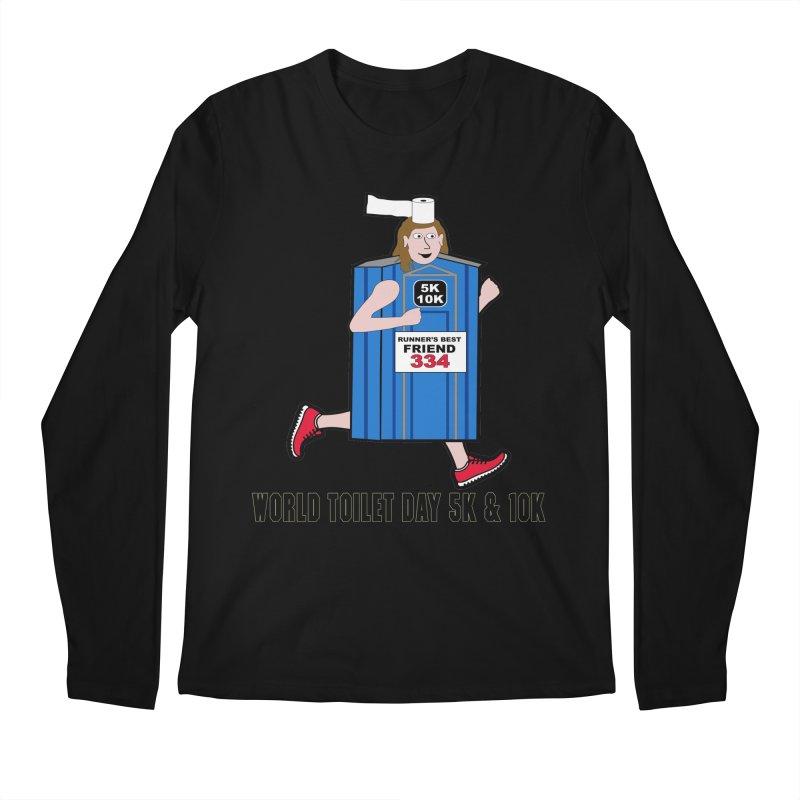 World Toilet Day 5K & 10K: Runner's Best Friend Men's Longsleeve T-Shirt by moonjoggers's Artist Shop