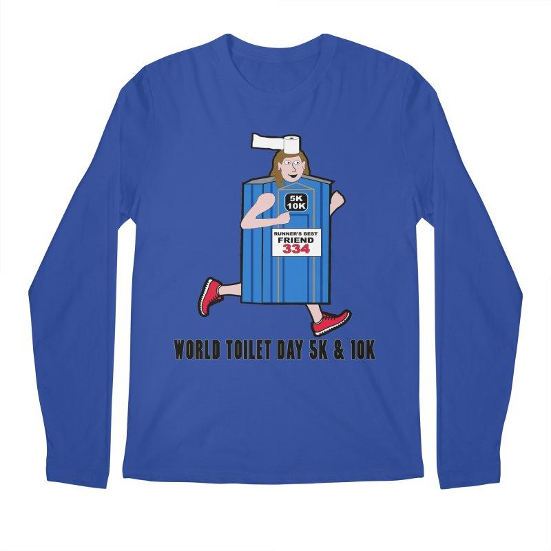 World Toilet Day 5K & 10K: Runner's Best Friend Men's Regular Longsleeve T-Shirt by moonjoggers's Artist Shop