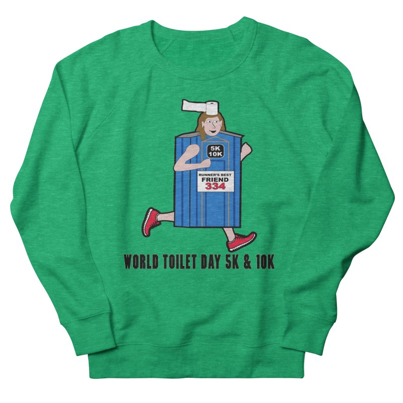 World Toilet Day 5K & 10K: Runner's Best Friend Men's French Terry Sweatshirt by moonjoggers's Artist Shop
