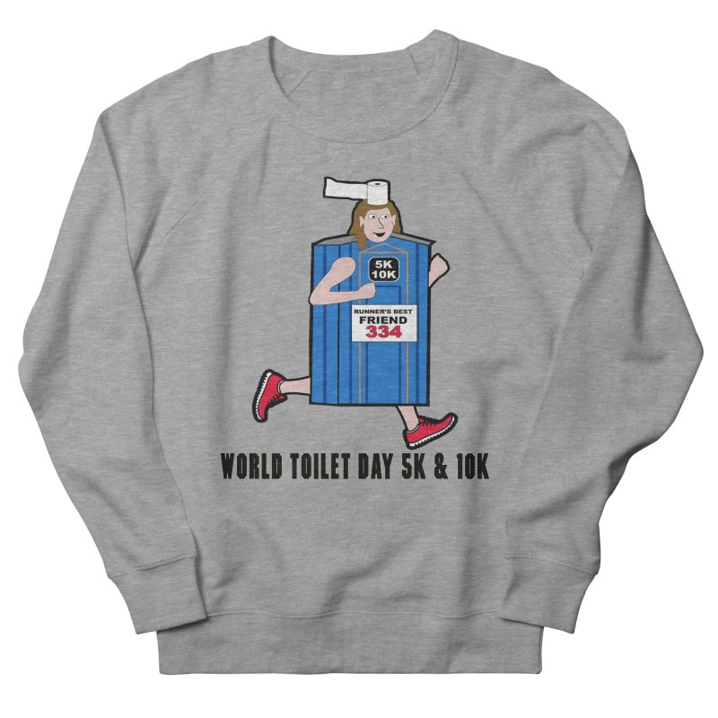 World Toilet Day 5K & 10K: Runner's Best Friend Men's French Terry Sweatshirt by moonjoggers's Artist Shop