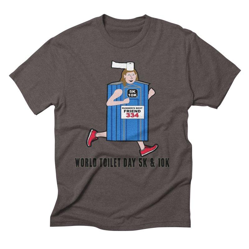World Toilet Day 5K & 10K: Runner's Best Friend Men's Triblend T-Shirt by moonjoggers's Artist Shop