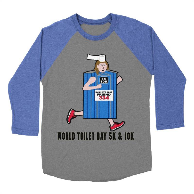 World Toilet Day 5K & 10K: Runner's Best Friend Women's Baseball Triblend Longsleeve T-Shirt by moonjoggers's Artist Shop