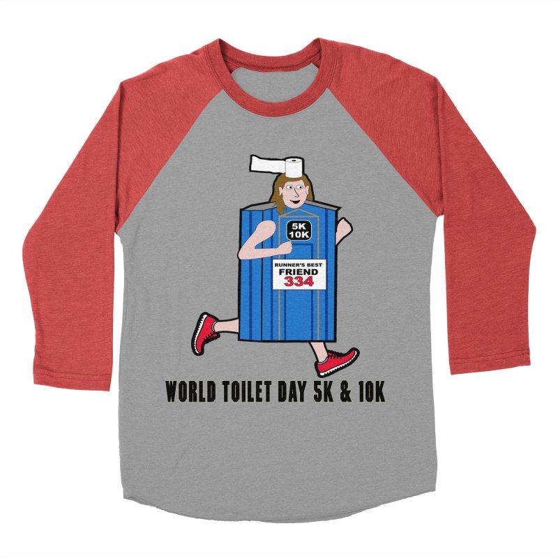 World Toilet Day 5K & 10K: Runner's Best Friend Women's Baseball Triblend T-Shirt by moonjoggers's Artist Shop