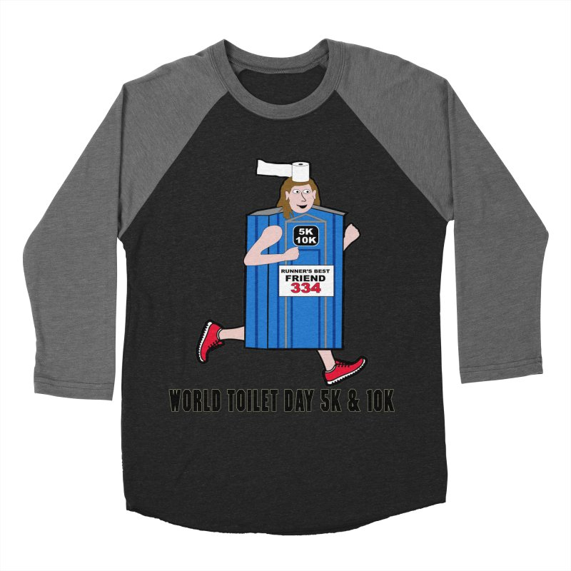 World Toilet Day 5K & 10K: Runner's Best Friend Men's Baseball Triblend T-Shirt by moonjoggers's Artist Shop