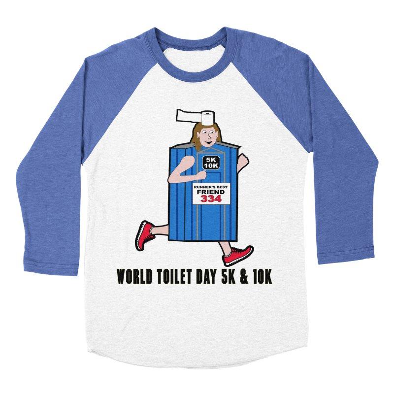 World Toilet Day 5K & 10K: Runner's Best Friend Men's Baseball Triblend Longsleeve T-Shirt by moonjoggers's Artist Shop