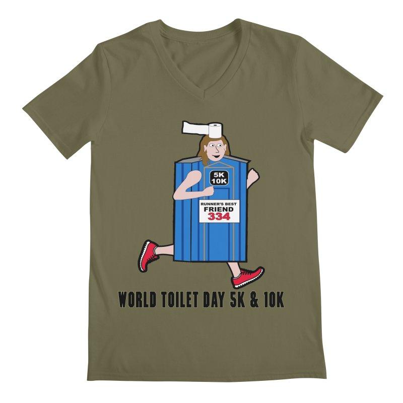 World Toilet Day 5K & 10K: Runner's Best Friend Men's V-Neck by moonjoggers's Artist Shop