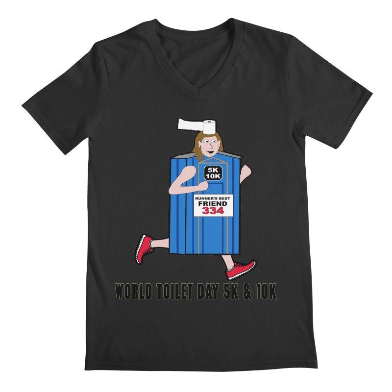 World Toilet Day 5K & 10K: Runner's Best Friend Men's Regular V-Neck by moonjoggers's Artist Shop