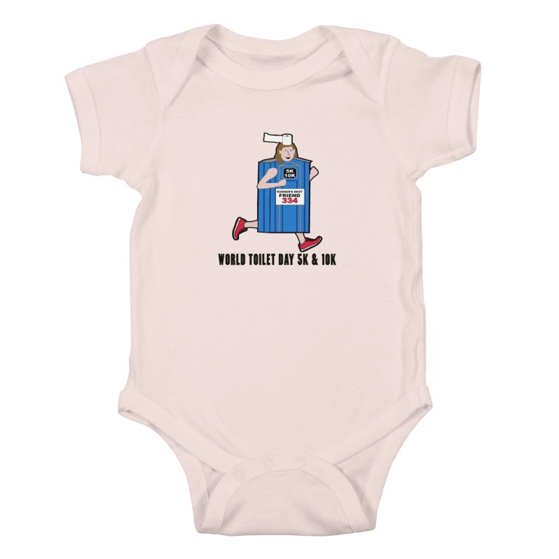 World Toilet Day 5K & 10K: Runner's Best Friend Kids Baby Bodysuit by moonjoggers's Artist Shop