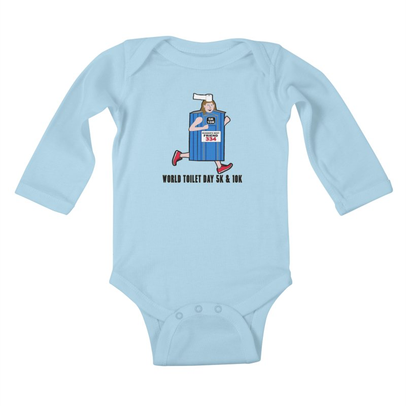 World Toilet Day 5K & 10K: Runner's Best Friend Kids Baby Longsleeve Bodysuit by moonjoggers's Artist Shop
