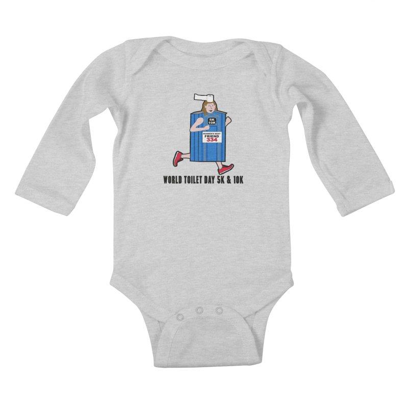 World Toilet Day 5K & 10K: Runner's Best Friend Kids Baby Longsleeve Bodysuit by moonjoggers's Artist Shop