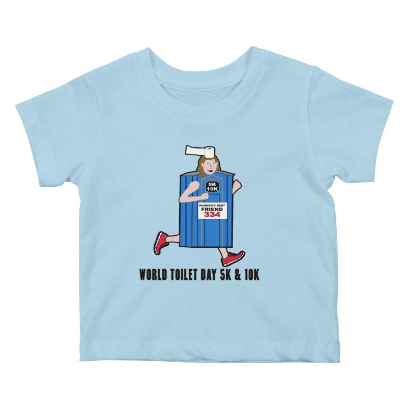 World Toilet Day 5K & 10K: Runner's Best Friend Kids Baby T-Shirt by moonjoggers's Artist Shop
