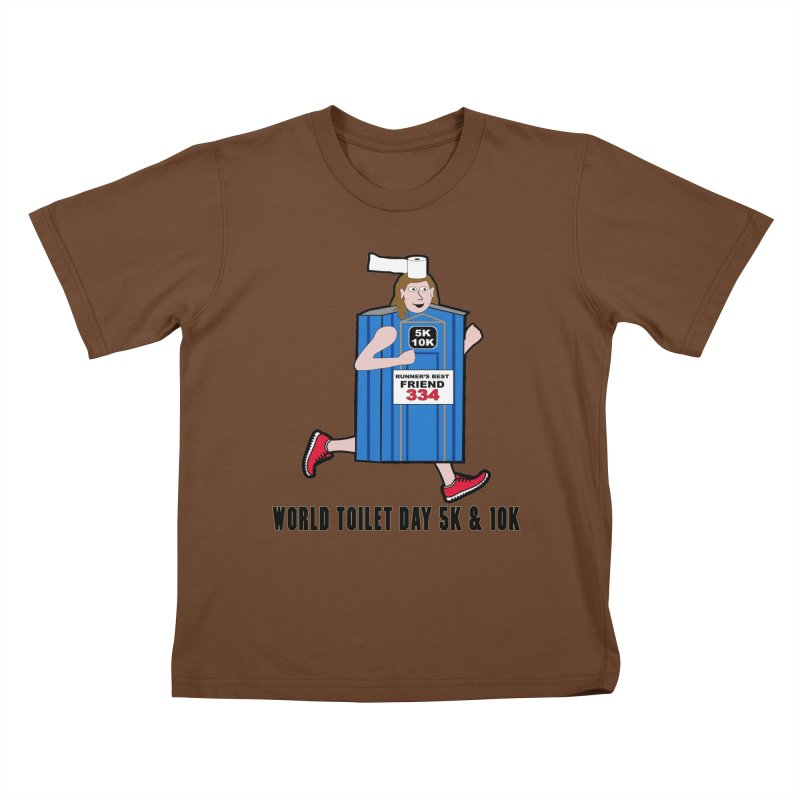 World Toilet Day 5K & 10K: Runner's Best Friend Kids T-Shirt by moonjoggers's Artist Shop