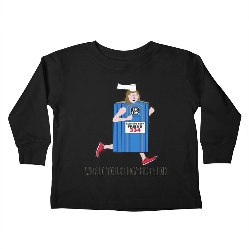 World Toilet Day 5K & 10K: Runner's Best Friend Kids Toddler Longsleeve T-Shirt by moonjoggers's Artist Shop