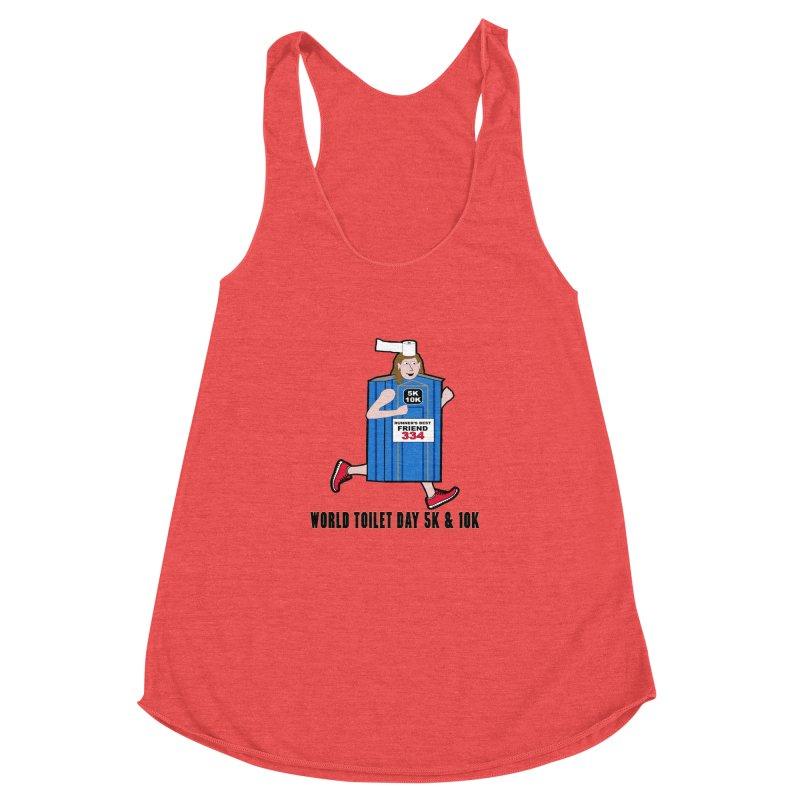 World Toilet Day 5K & 10K: Runner's Best Friend Women's Racerback Triblend Tank by moonjoggers's Artist Shop