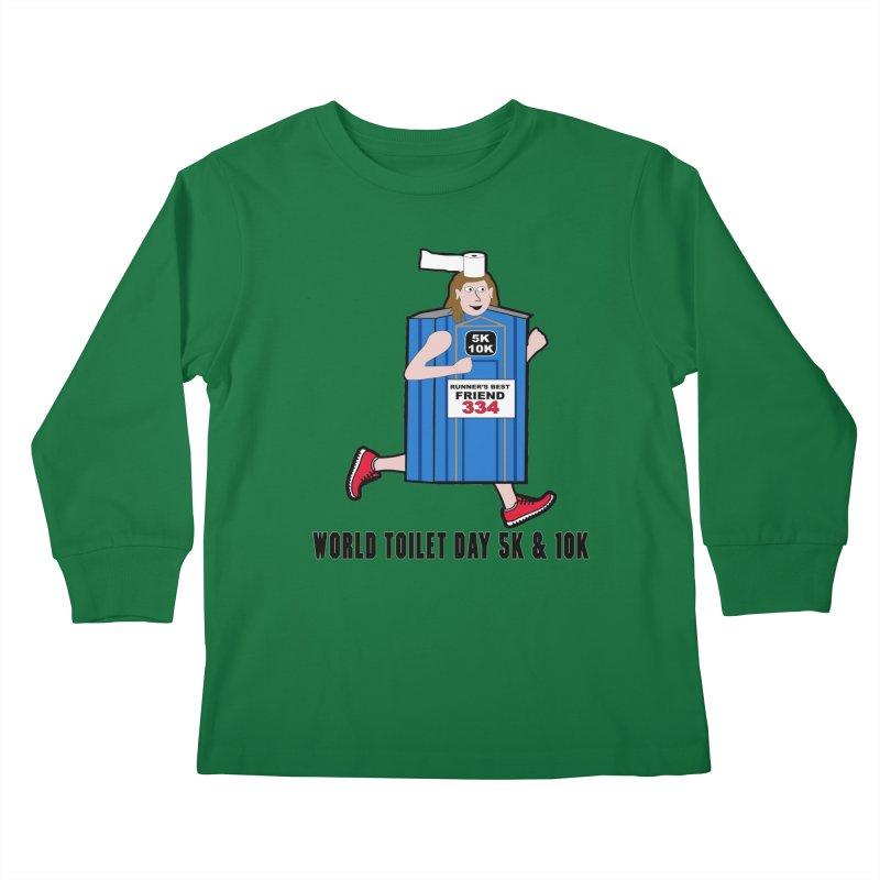World Toilet Day 5K & 10K: Runner's Best Friend Kids Longsleeve T-Shirt by moonjoggers's Artist Shop