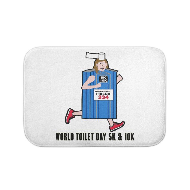 World Toilet Day 5K & 10K: Runner's Best Friend Home Bath Mat by moonjoggers's Artist Shop
