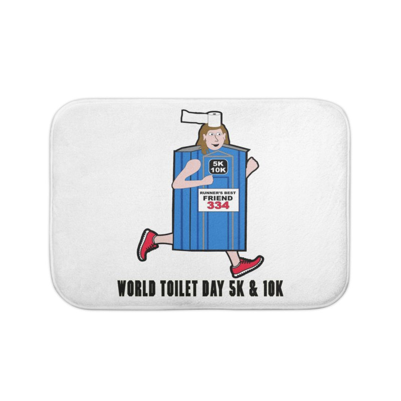 World Toilet Day 5K & 10K: Runner's Best Friend Home Bath Mat by moonjoggers's Artist Shop