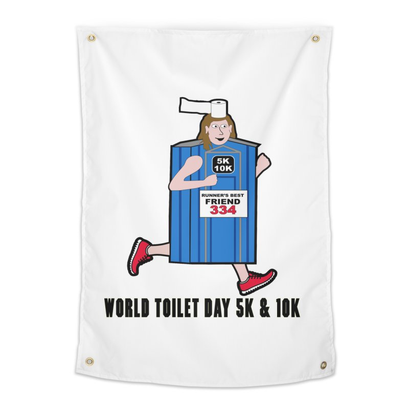 World Toilet Day 5K & 10K: Runner's Best Friend Home Tapestry by moonjoggers's Artist Shop