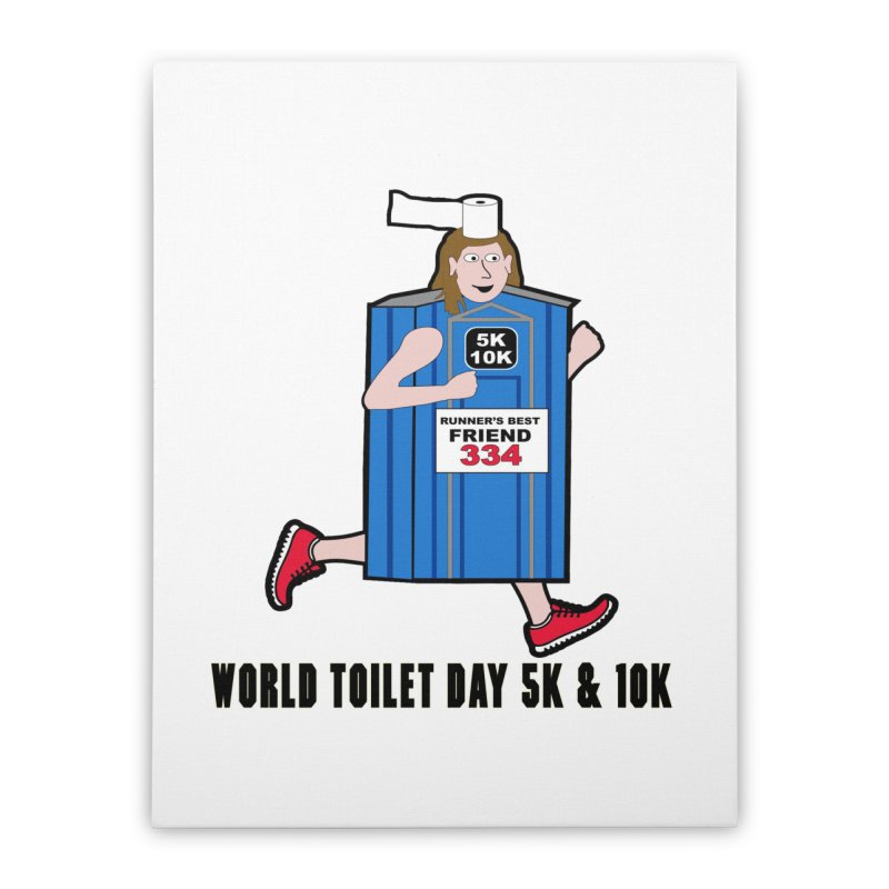 World Toilet Day 5K & 10K: Runner's Best Friend Home Stretched Canvas by moonjoggers's Artist Shop