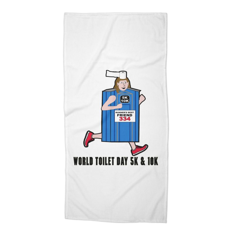 World Toilet Day 5K & 10K: Runner's Best Friend Accessories Beach Towel by moonjoggers's Artist Shop