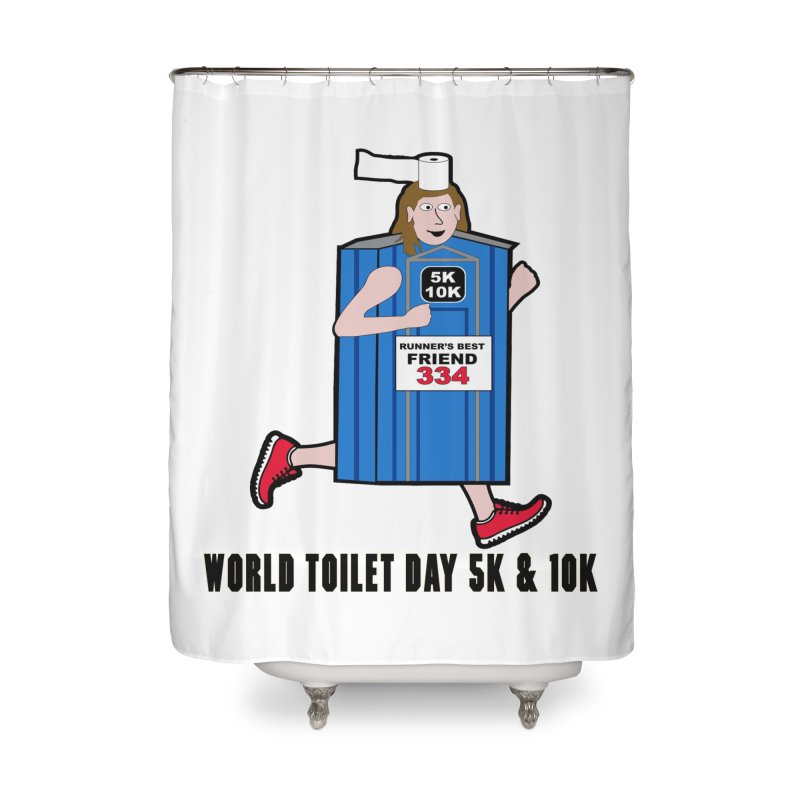 World Toilet Day 5K & 10K: Runner's Best Friend Home Shower Curtain by moonjoggers's Artist Shop