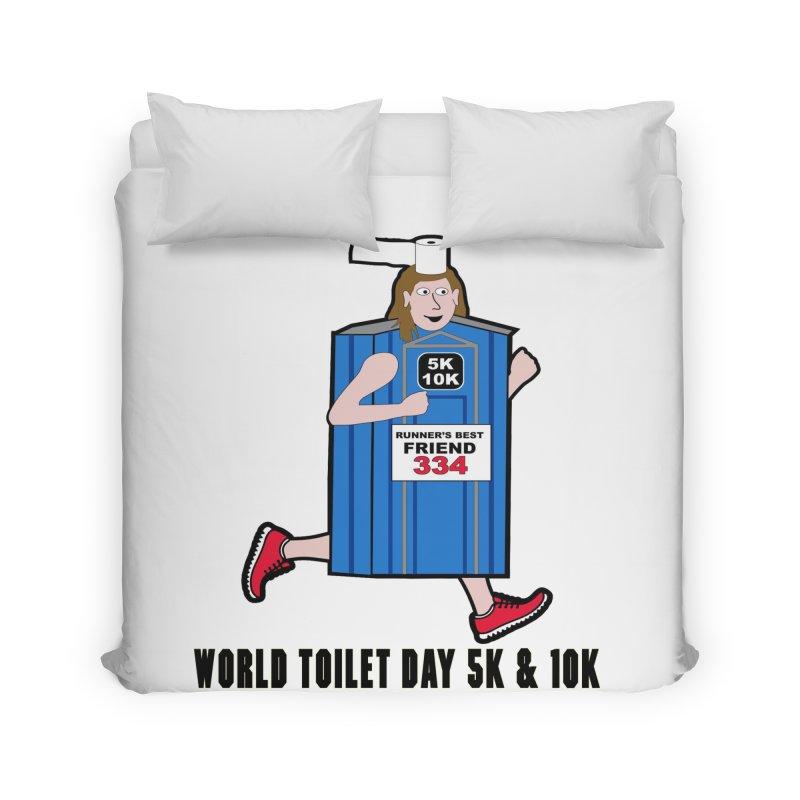 World Toilet Day 5K & 10K: Runner's Best Friend Home Duvet by moonjoggers's Artist Shop