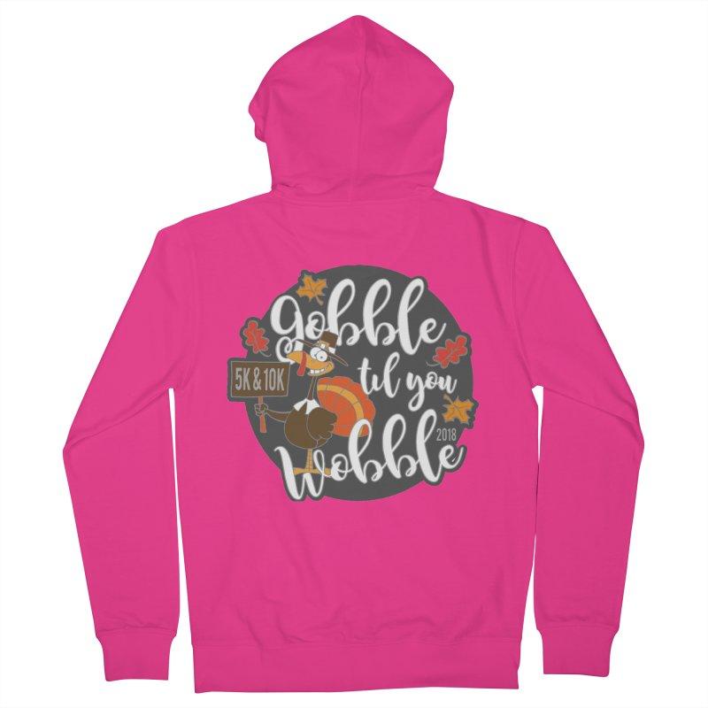 Gobble Til You Wobble 5K & 10K Men's Zip-Up Hoody by moonjoggers's Artist Shop