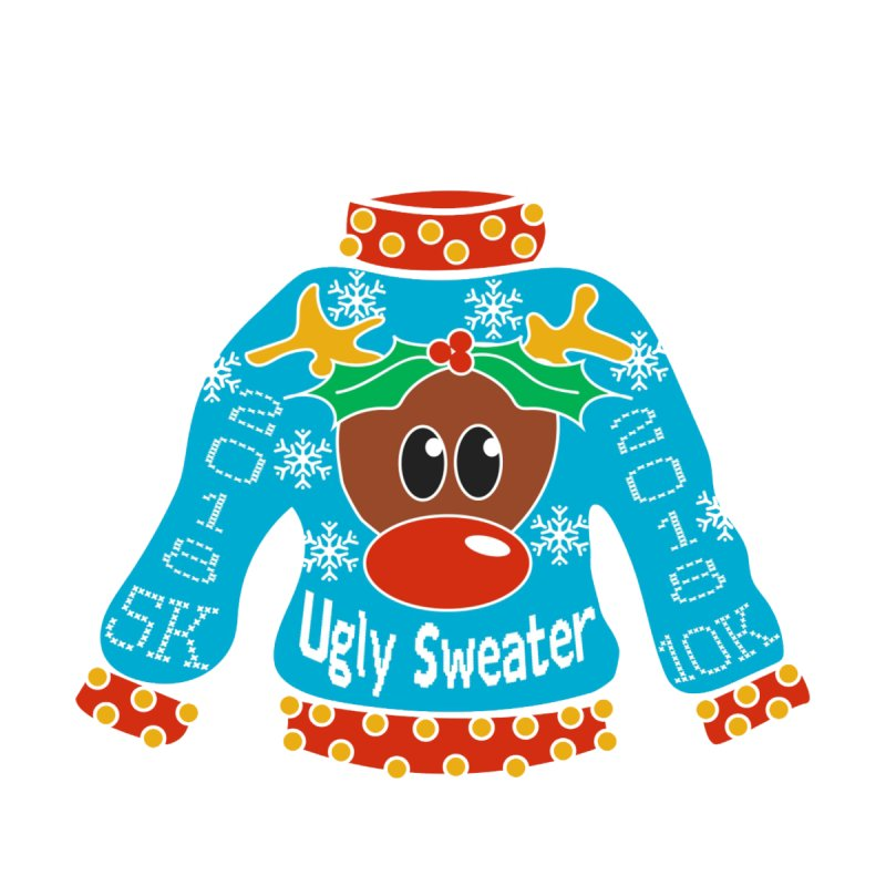 Ugly Sweater 5K & 10K Home Fine Art Print by Moon Joggers's Artist Shop