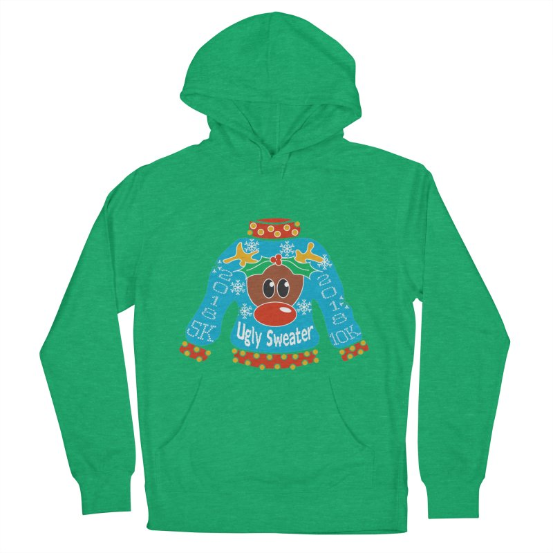 Ugly Sweater 5K & 10K Women's French Terry Pullover Hoody by moonjoggers's Artist Shop