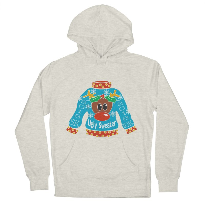 Ugly Sweater 5K & 10K Men's French Terry Pullover Hoody by moonjoggers's Artist Shop