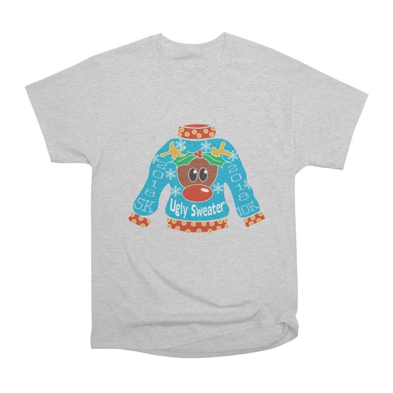 Ugly Sweater 5K & 10K Women's Heavyweight Unisex T-Shirt by moonjoggers's Artist Shop