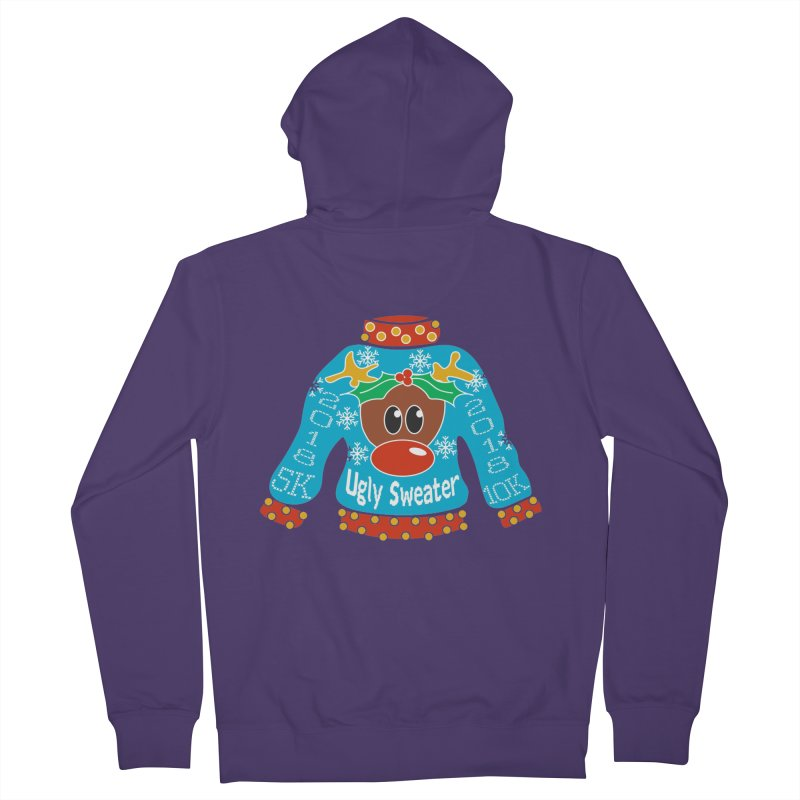 Ugly Sweater 5K & 10K Women's French Terry Zip-Up Hoody by moonjoggers's Artist Shop