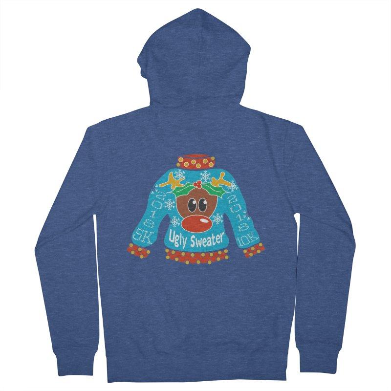Ugly Sweater 5K & 10K Men's Zip-Up Hoody by moonjoggers's Artist Shop