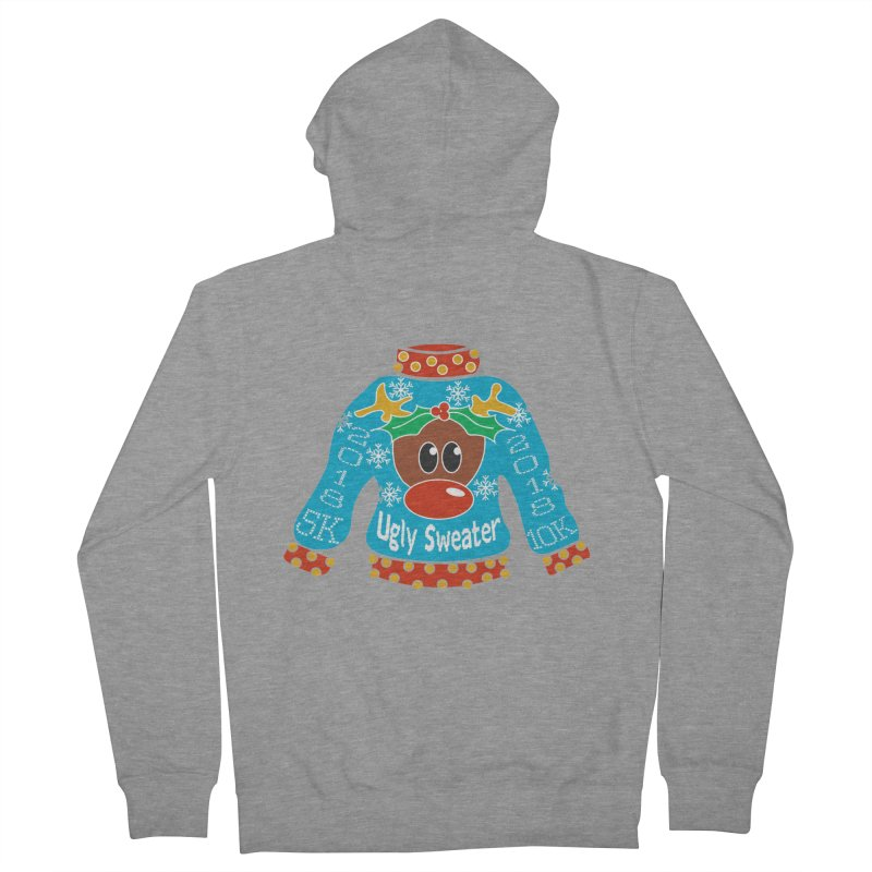 Ugly Sweater 5K & 10K Men's French Terry Zip-Up Hoody by moonjoggers's Artist Shop