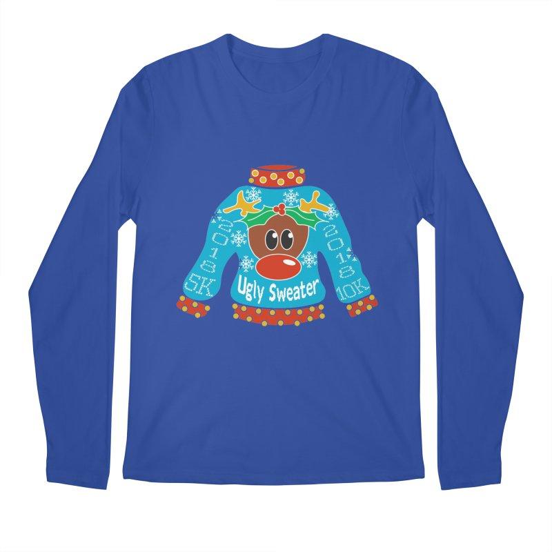 Ugly Sweater 5K & 10K Men's Longsleeve T-Shirt by moonjoggers's Artist Shop