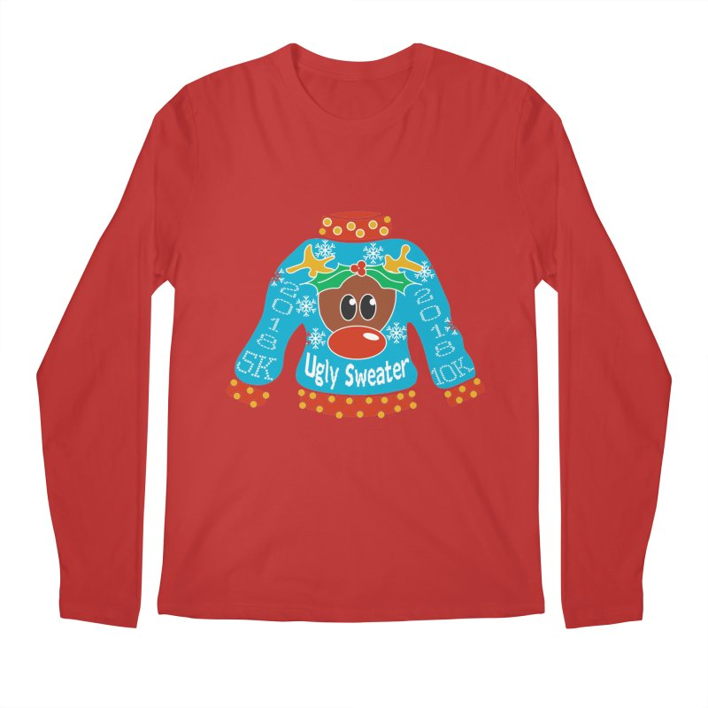Ugly Sweater 5K & 10K Men's Regular Longsleeve T-Shirt by moonjoggers's Artist Shop