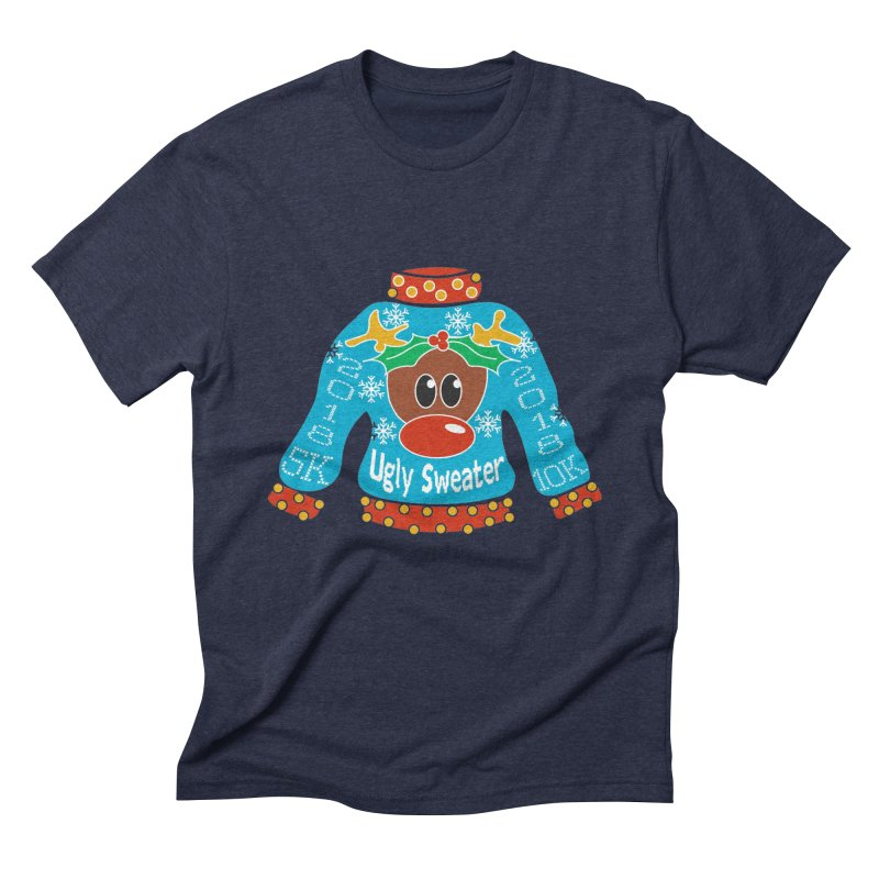 Ugly Sweater 5K & 10K Men's Triblend T-Shirt by moonjoggers's Artist Shop