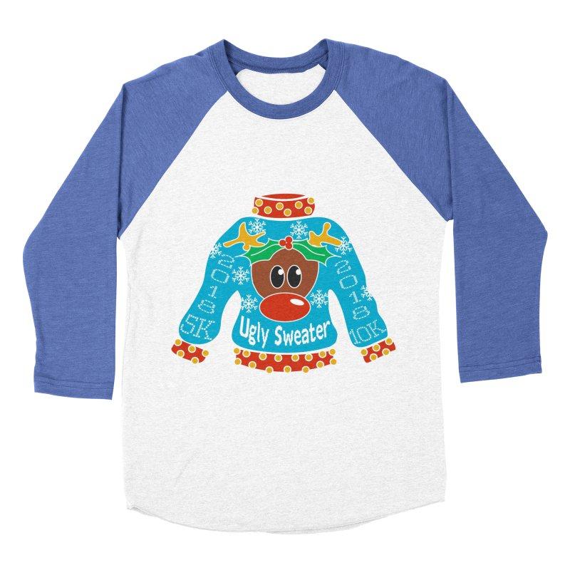 Ugly Sweater 5K & 10K Women's Baseball Triblend Longsleeve T-Shirt by moonjoggers's Artist Shop