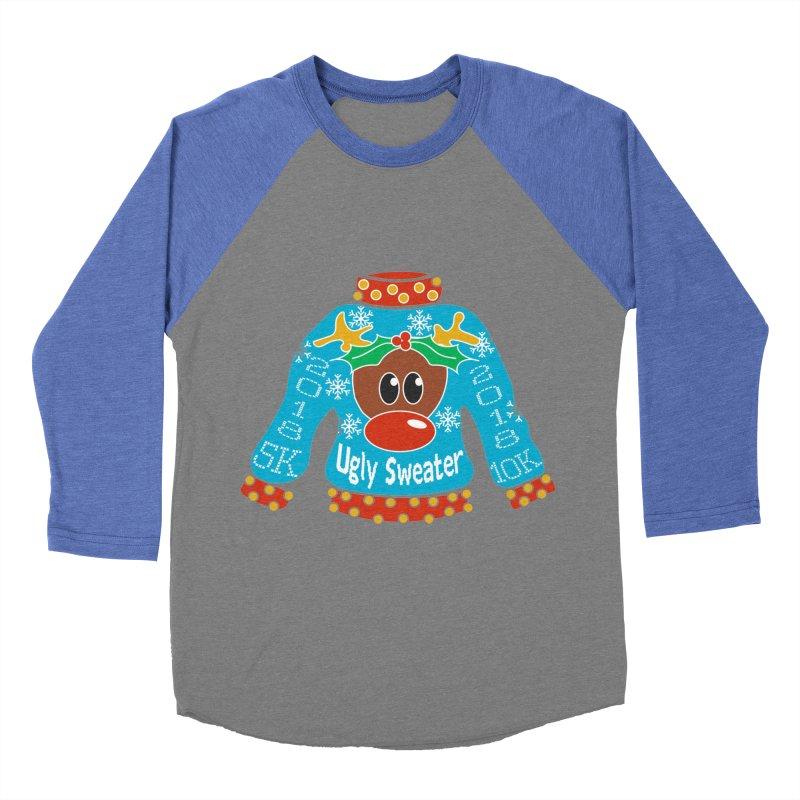 Ugly Sweater 5K & 10K Men's Baseball Triblend Longsleeve T-Shirt by moonjoggers's Artist Shop