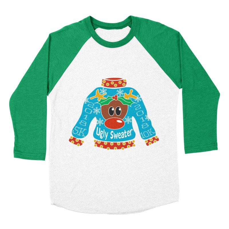 Ugly Sweater 5K & 10K Men's Baseball Triblend T-Shirt by moonjoggers's Artist Shop