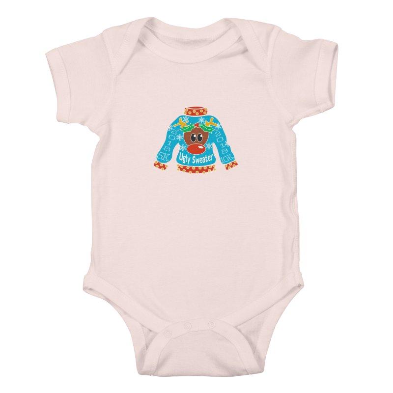 Ugly Sweater 5K & 10K Kids Baby Bodysuit by moonjoggers's Artist Shop