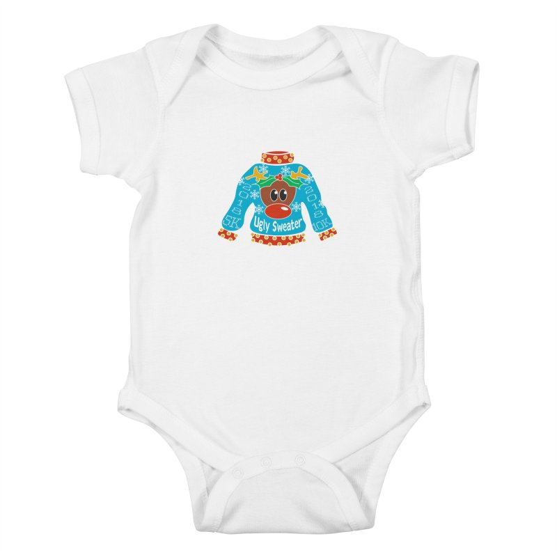 Ugly Sweater 5K & 10K Kids Baby Bodysuit by moonjoggers's Artist Shop