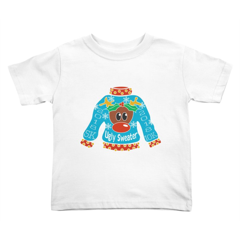 Ugly Sweater 5K & 10K Kids Toddler T-Shirt by moonjoggers's Artist Shop