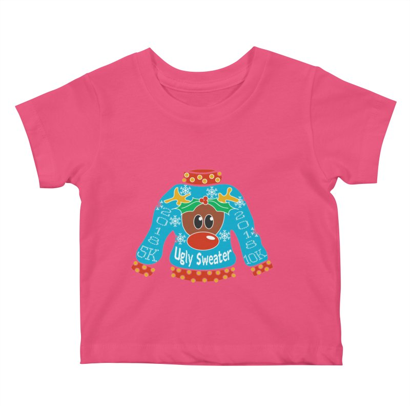 Ugly Sweater 5K & 10K Kids Baby T-Shirt by moonjoggers's Artist Shop