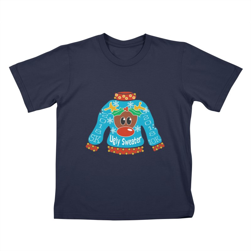 Ugly Sweater 5K & 10K Kids T-Shirt by Moon Joggers's Artist Shop