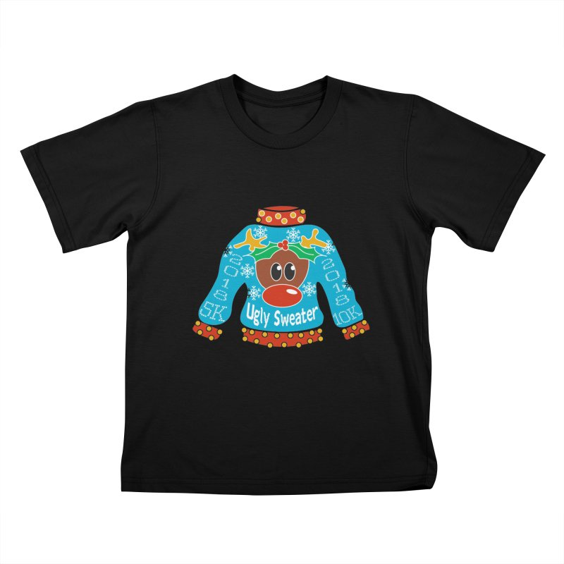 Ugly Sweater 5K & 10K Kids T-Shirt by moonjoggers's Artist Shop
