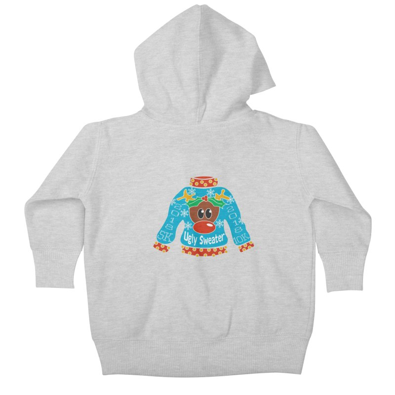 Ugly Sweater 5K & 10K Kids Baby Zip-Up Hoody by moonjoggers's Artist Shop